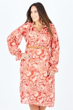 Wish Retro Floral Midi Dress
