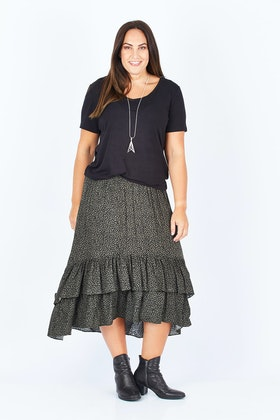 Sass Jungle Dreams Tiered Skirt