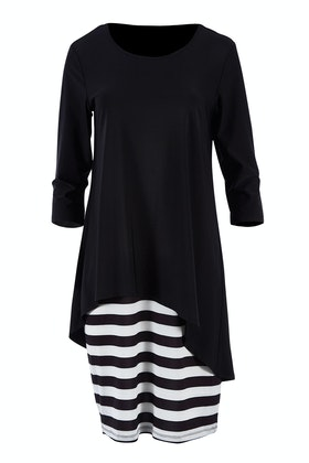 Cordelia St Contrast Layer Dress