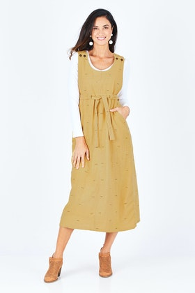 Sinerji Long Pinafore Dress