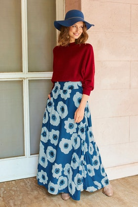 that bird label Rosie Maxi Skirt Bold Blooms