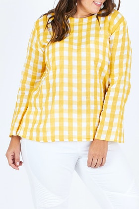 handpicked by birds Long Sleeve Check Top