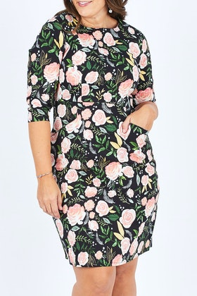 that bird label Ingrid Flare Dress Cascading Blooms