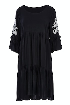 Clarity By Threadz Embroidered Sleeve Dress