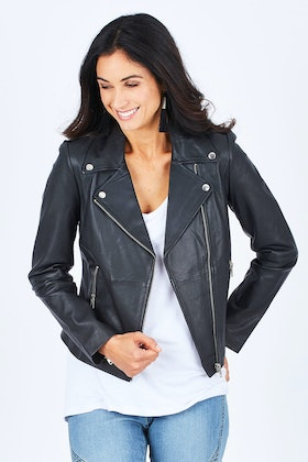 Pretty In Pink Ellie Biker Jacket