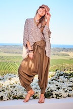 boho bird Groove With Me Slouch Pants
