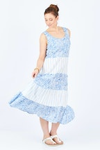 Gordon Smith Blue Tiered Dress