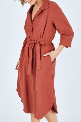 bird keepers The Midi Shirt Dress