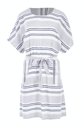 Threadz Tie Waist Multi Stripe Dress