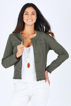 Threadz Collarless Jacket