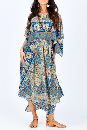 boho bird Layer Cape Dress
