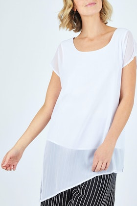 bird keepers The Chiffon Trim Top