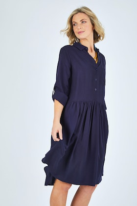 bird keepers The Drop Waist Shirt Dress