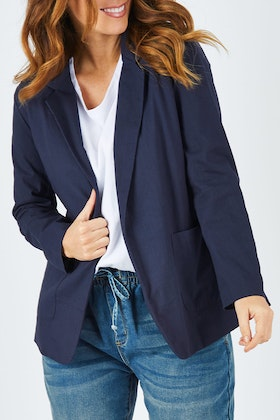 bird keepers The Cotton Blend Boyfriend Blazer