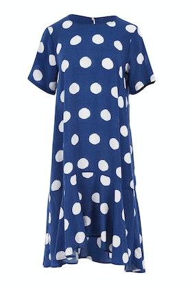 Clarity By Threadz Ruffle Hem Spot Dress