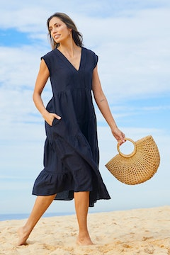 Cotton Linen Tier Dress
