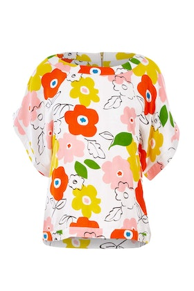 that bird label Lola Belle Sleeve Top Popping Flower