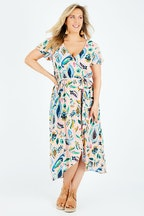 Elm Paisley Wrap Dress