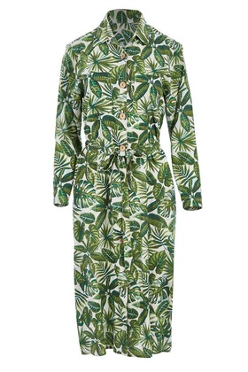 Holiday Tropics Shirt Dress