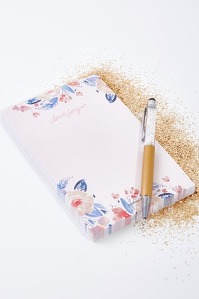 Blushing Confetti Don't Forget Market Notepad