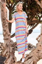 bird keepers The Block Stripe Tee Dress
