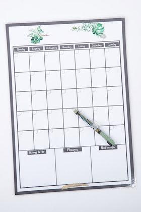 ATP Creative Reusable A3 Monthly Wall Calendar And Pen Set