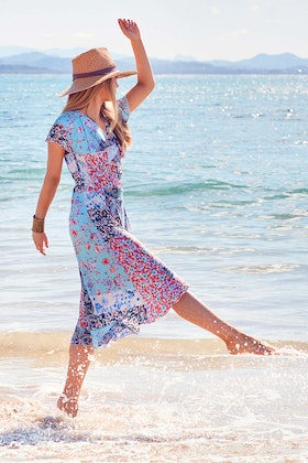 boho bird Life Is Beautiful Wrap Dress