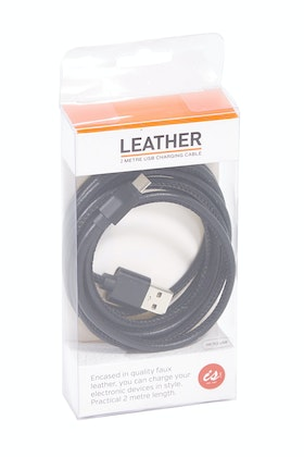 IS Gifts PU Leather 2M Android Charging Cable