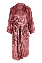 Annabel Trends Crushed Velvet Bath Robe
