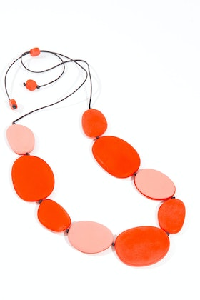 Ruby Olive Rocco Long Flat Pebble Necklace