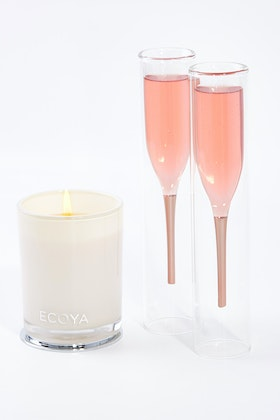 Thumbs Up Inside Out Champagne Flutes