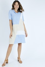 Gordon Smith  Linen Blend Cowl Dress