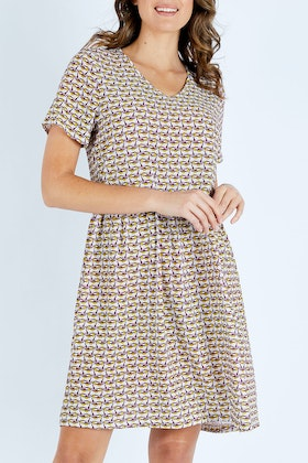 handpicked by birds High Waist Printed Dress