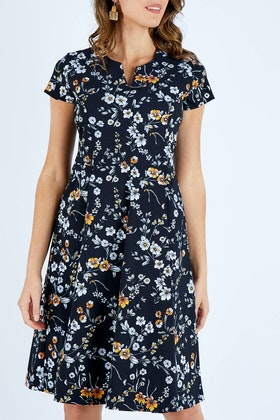 bird by design The Printed Career Dress