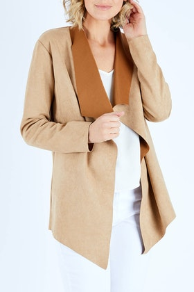 bird keepers The Suedette Waterfall Jacket