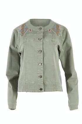 Threadz Embroidered Denim Jacket