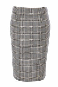The Checked Pencil Skirt