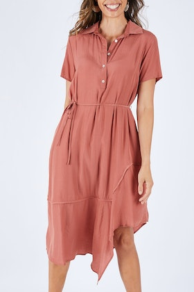 Fate + Becker Stella Midi Shirt Dress