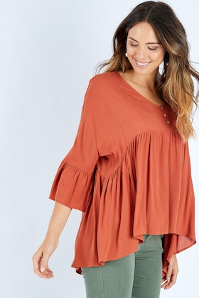 Threadz Ruffle Hem Top