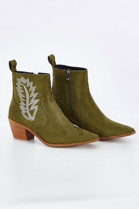 KO Fashion Cazzie Feather Boot