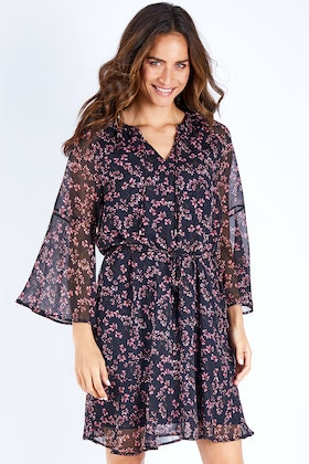 bird keepers The Printed V Neck Dress