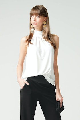 Sacha Drake High Neck Tie Top