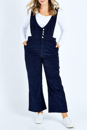 handpicked by birds Wide Leg Cord Overalls