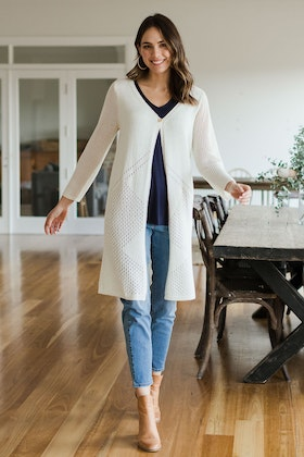 bird keepers The Long Line Knit Cardigan