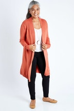 Whispers Long Sleeve Open Ribbed Cardigan