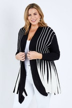 Whispers Long Line Ribbed Cardi