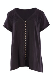 Button Me Up Tunic Tee