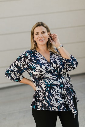 bird by design The Angled Wrap Blouse