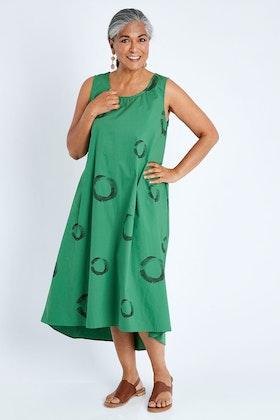 Clarity By Threadz Sleeveless Print Dress