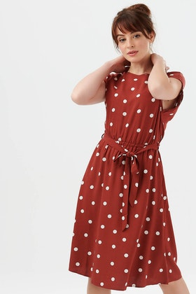 Sugarhill Brighton Connie Polka Midi Dress
